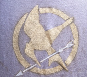 mockingjay stencil, by me.