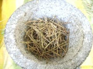 Garlic mustard chaff